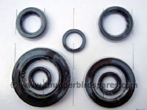 Oil Seal Set,Engine & Gearbox,Triumph T120/TR6 1963-1971, 4-Speed